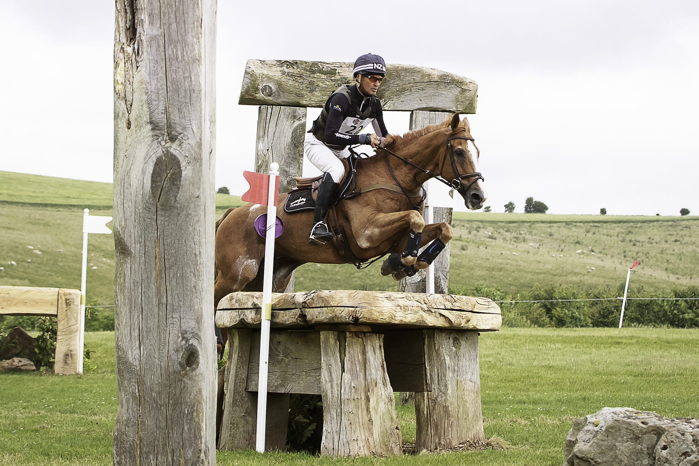 Andrew Nicholson riding Nereo enroute to victory in leg four of the Event Rider Masters at the Barbury International Horse Trials © Libby Law Photography & Eventridermasters.tv