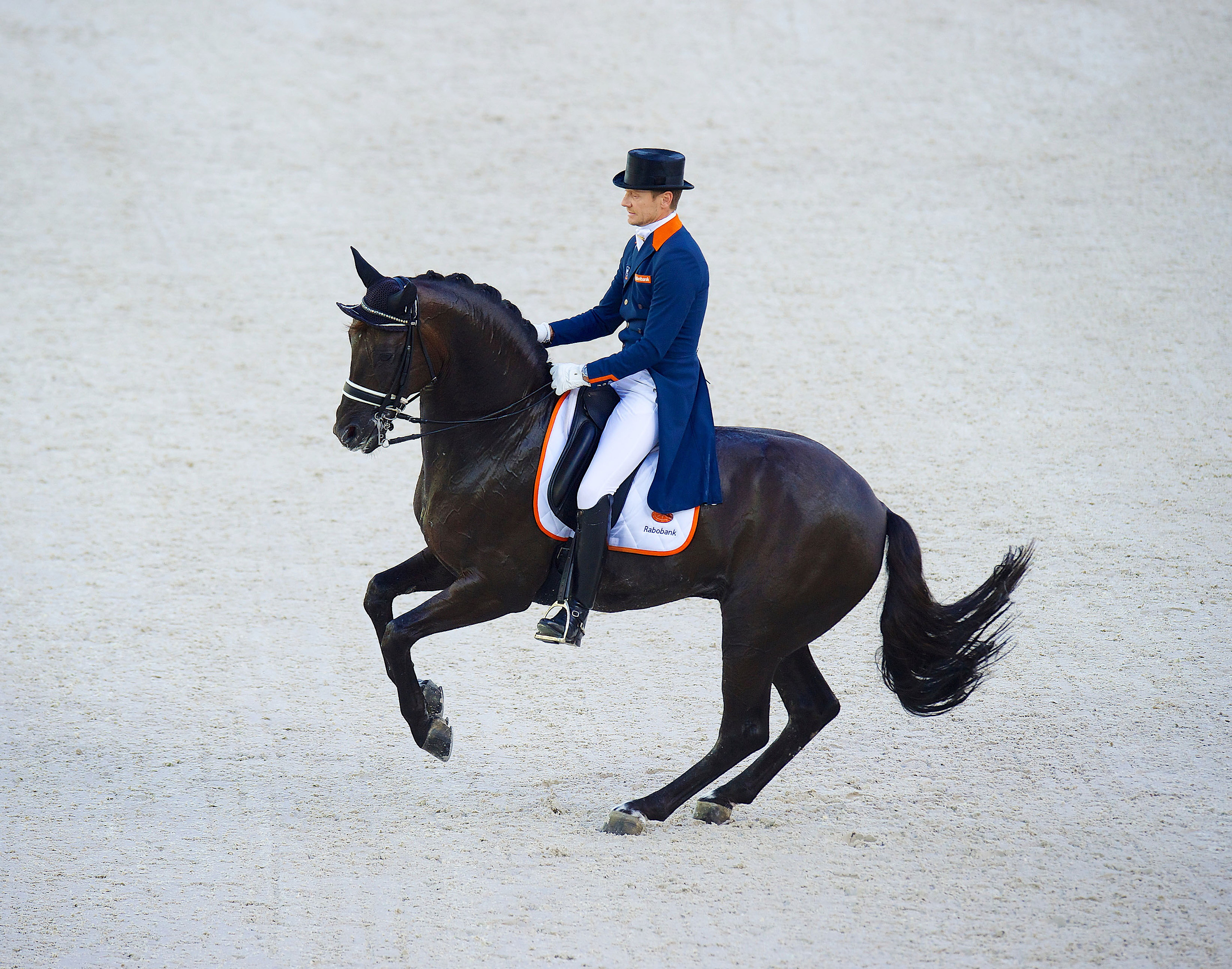 Edward Gal and Glock's Voice pirouetted before winning bronze in the dressage Mandatory © FEI / Arnd Bronkhorst / Pool Pic Livepic