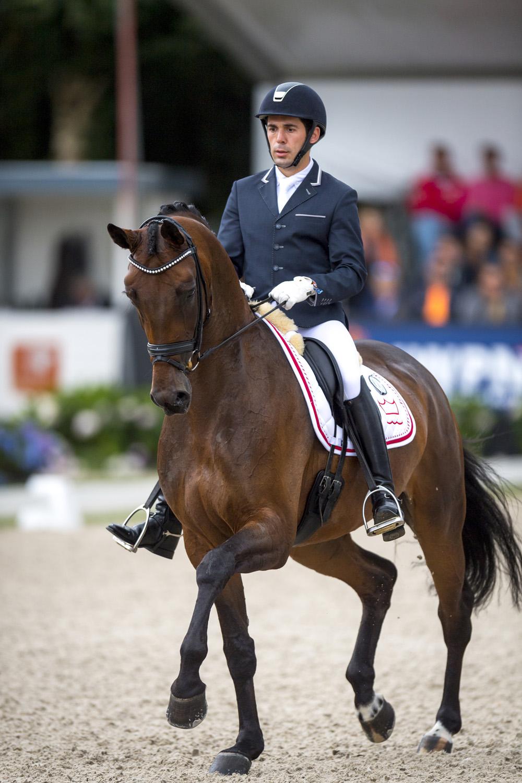 The fabulous mare, Fiontini (NED) . © FEI/Arnd Bronkhorst