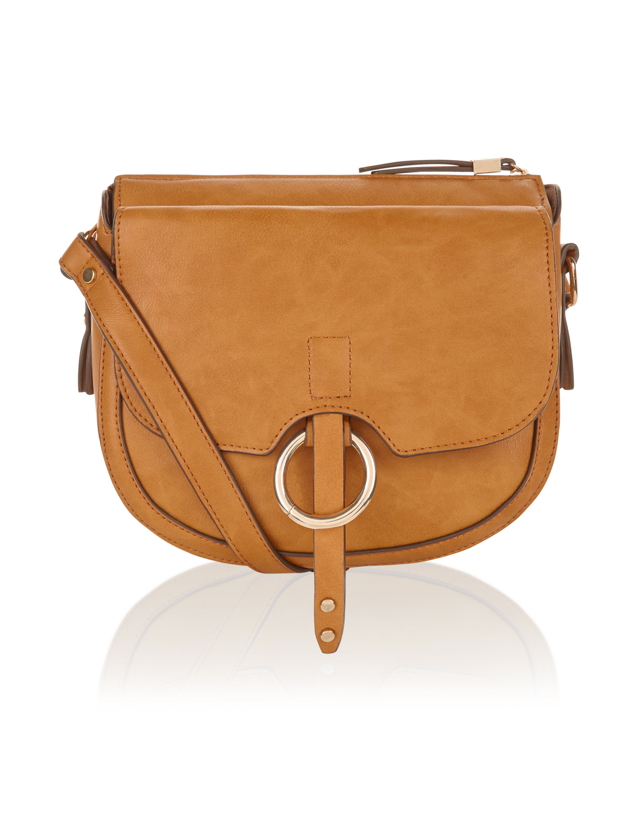 Penny Ring Detail Saddle Bag</a>