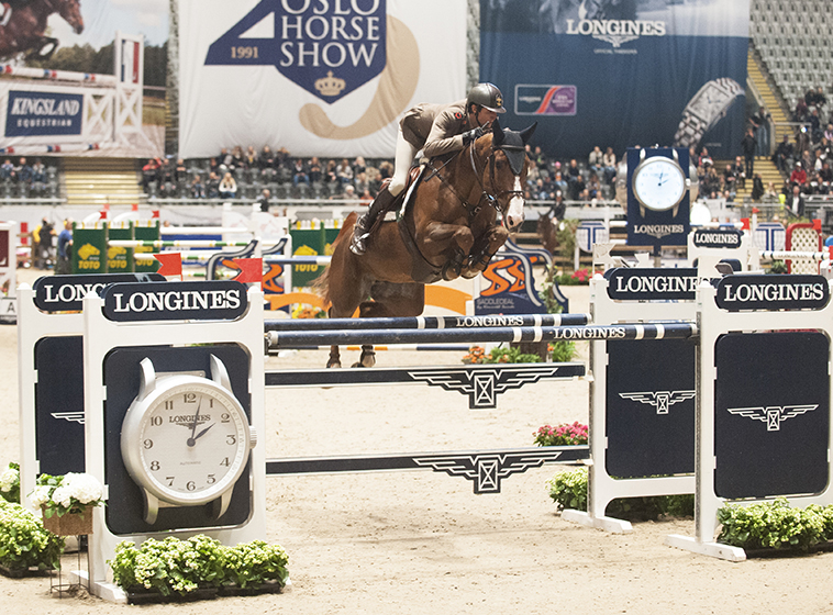 Italy's Alberto Zorzi was the surprise winner of today's first leg of the Longines FEI World Cup™ Jumping 2016/2017 Western European League riding Fair Light van T Heike. © Mette Sattrup/FEI