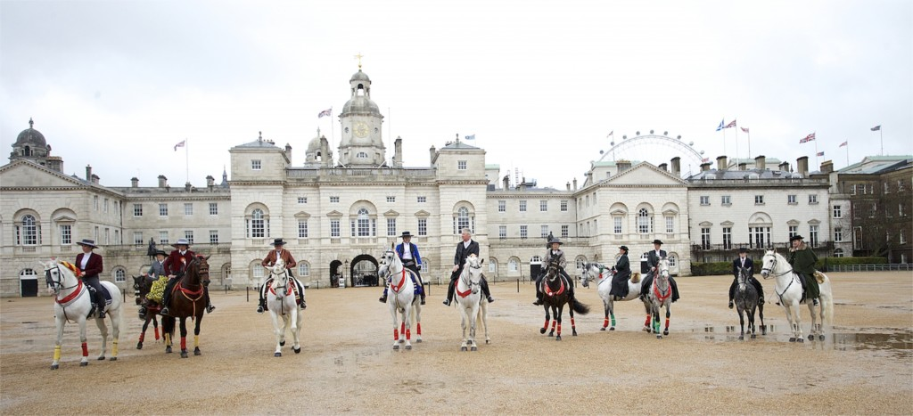 All The Queens Horses with iconic London backdrop. Photo by Jo Monck