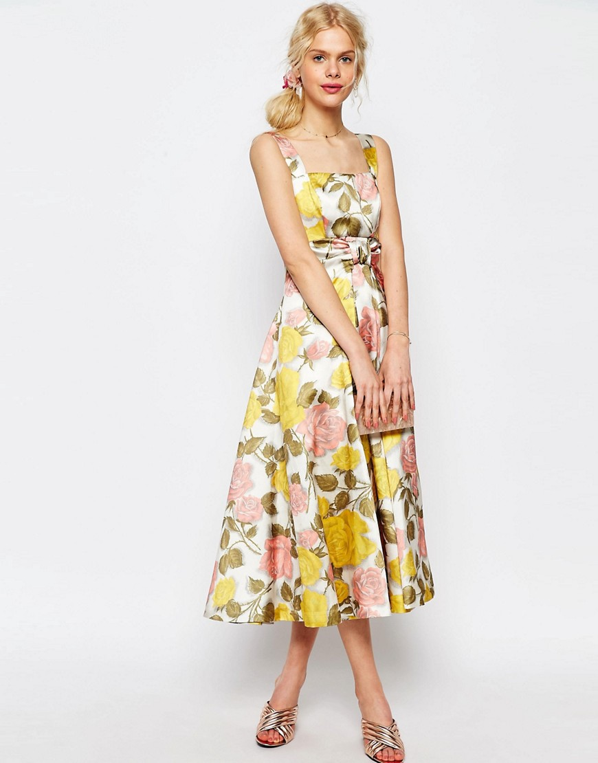 Asos floral prom