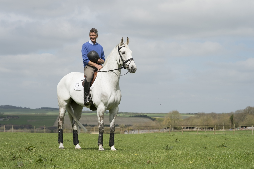 Andrew Nicholson and Avebury at home at Westwood Stud © Edward Whitaker/Racing Post Books