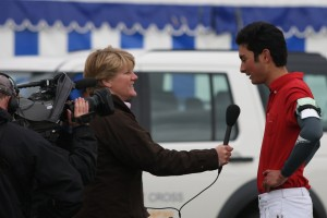 Badminton 2010 interview with BBC Photo Wu Ming