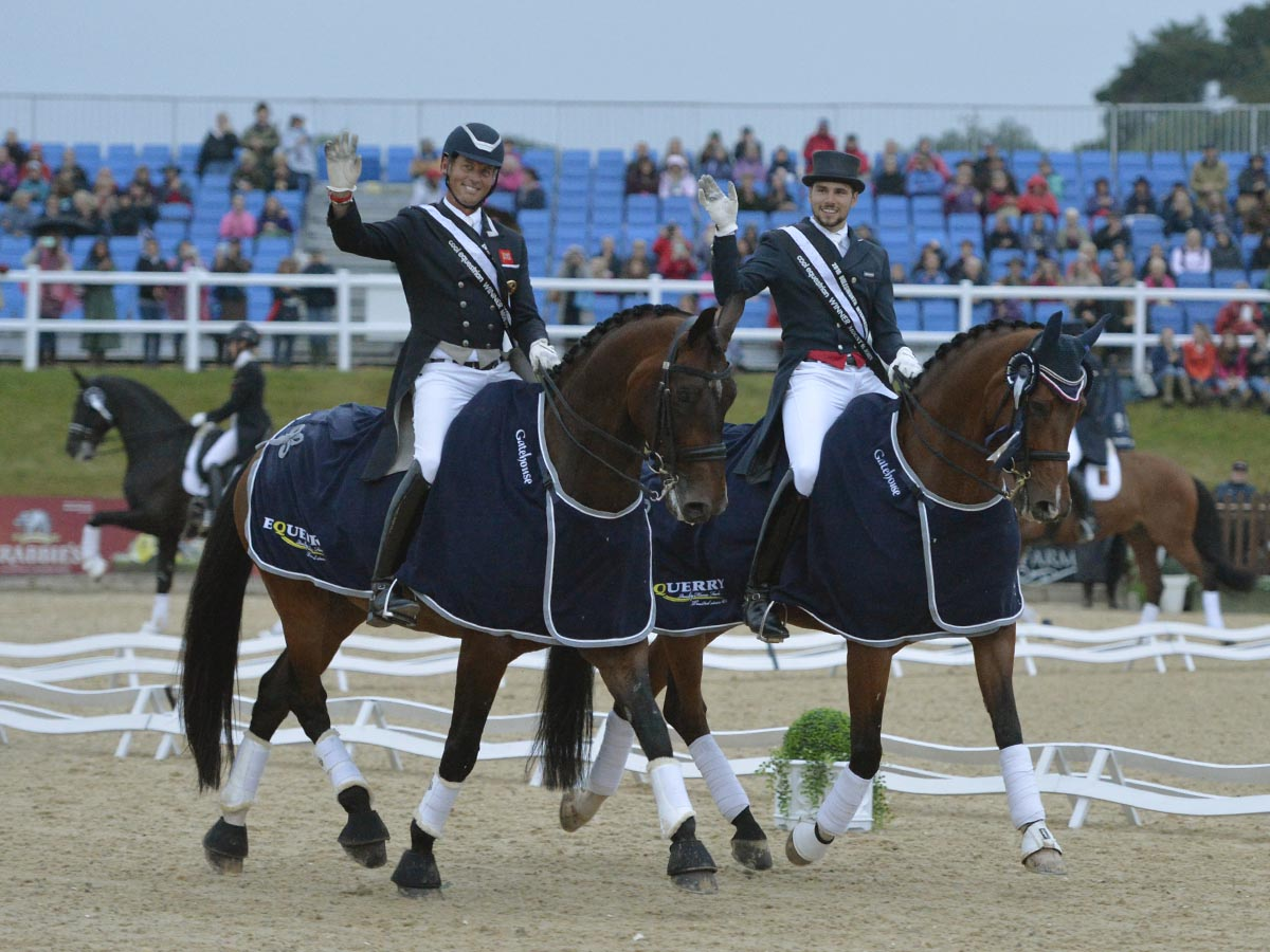 The winners Carl Hester and Charlie Hutton