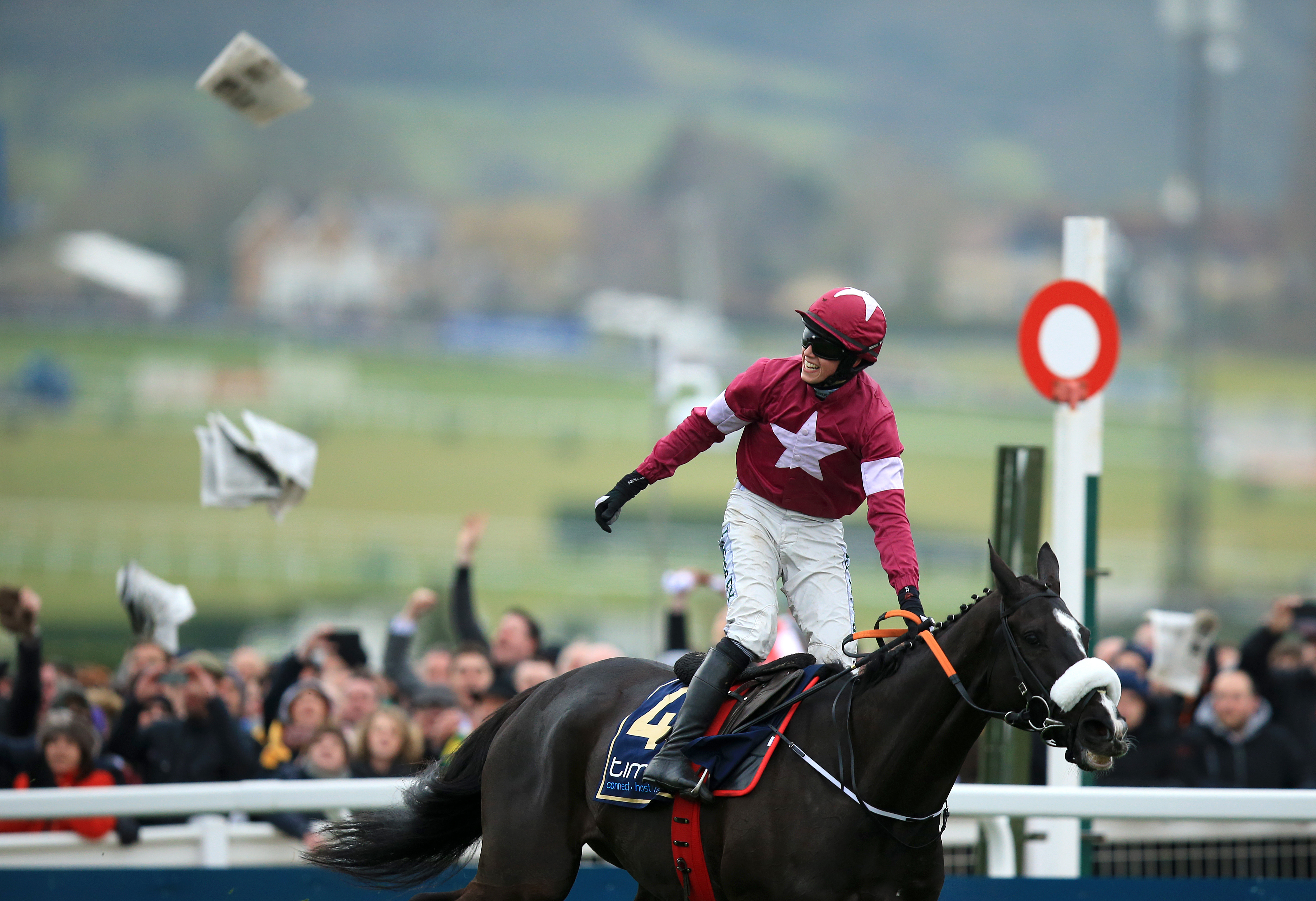 Don Cossack ridden by jockey Bryan Cooper after winning the Timico Cheltenham Gold Cup Chase 2016