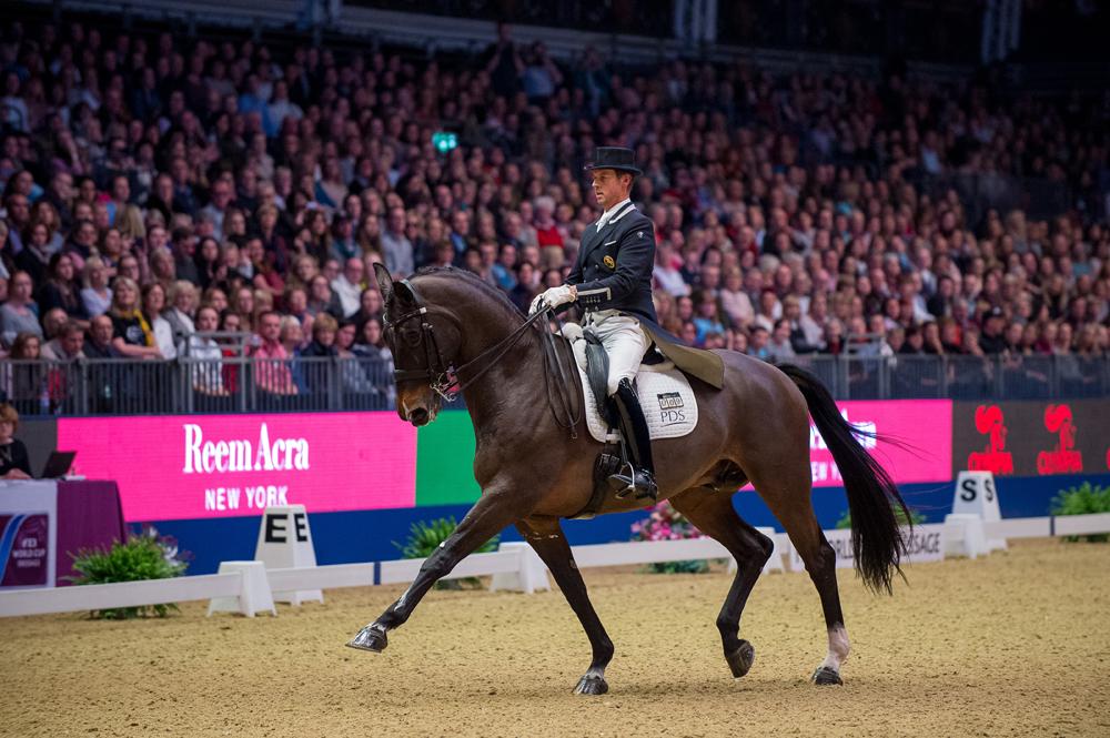 Great Britain's Carl Hester  with Nip Tuck at London Olympia (GBR) © Jon Stroud Media/FEI