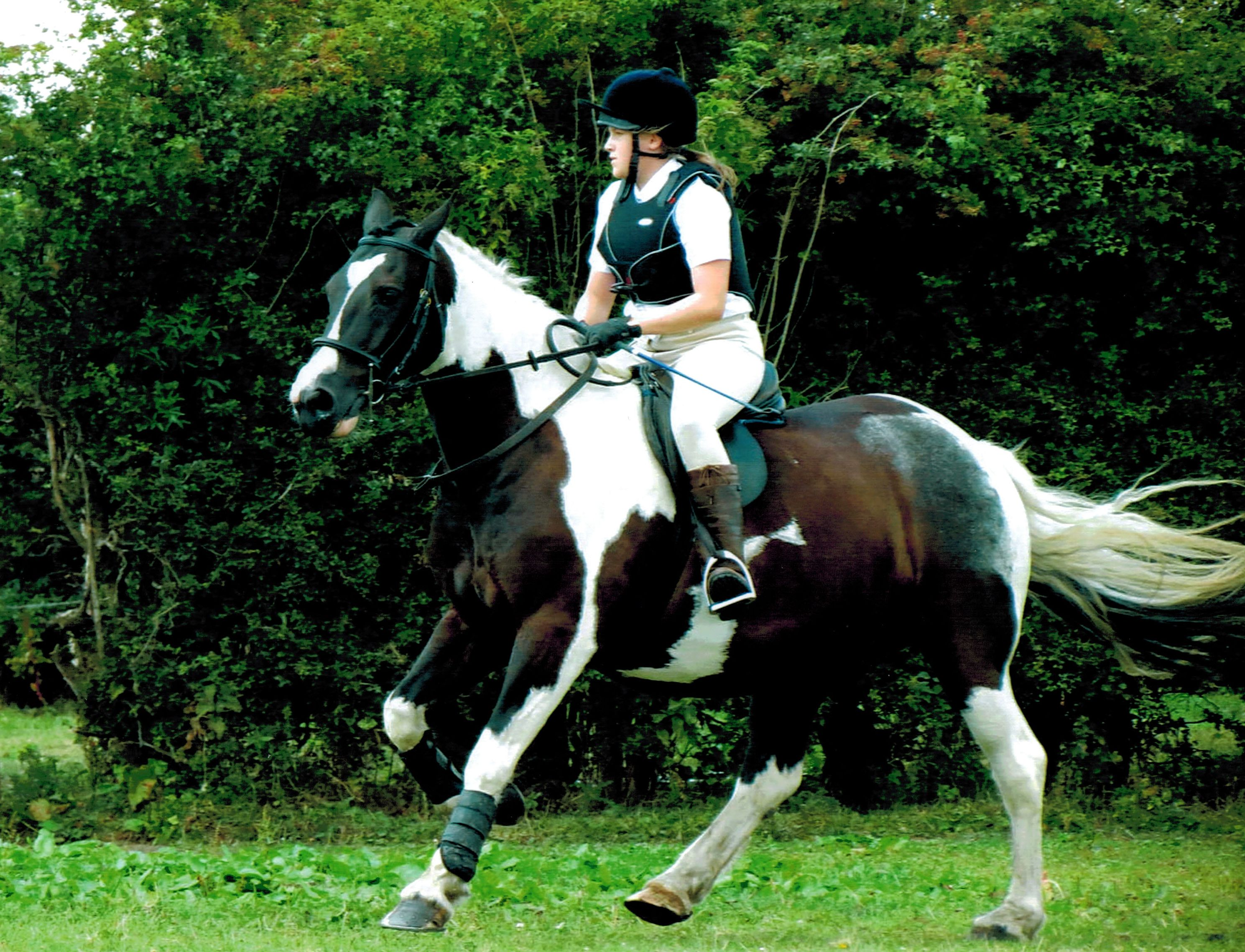 Chloe Spence Gray and her horse Stanley. World Horse Welfare Competition