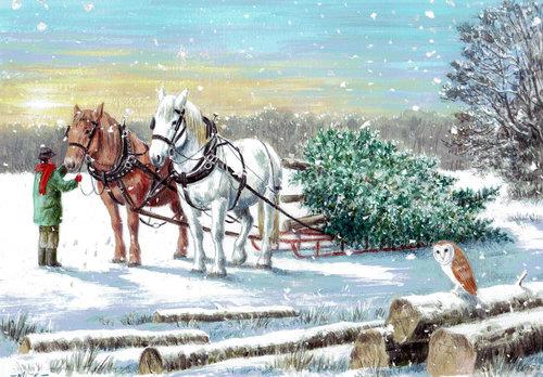 Northcote Heavy Horses Christmas Decorations