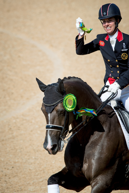 Great Britain's Charlotte Dujardin and Valegro secured their second successive individual Olympic Dressage title when winning the Freestyle today © Dirk Caremans/FEI