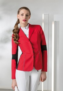 Equiline Cinzia jacket in red.