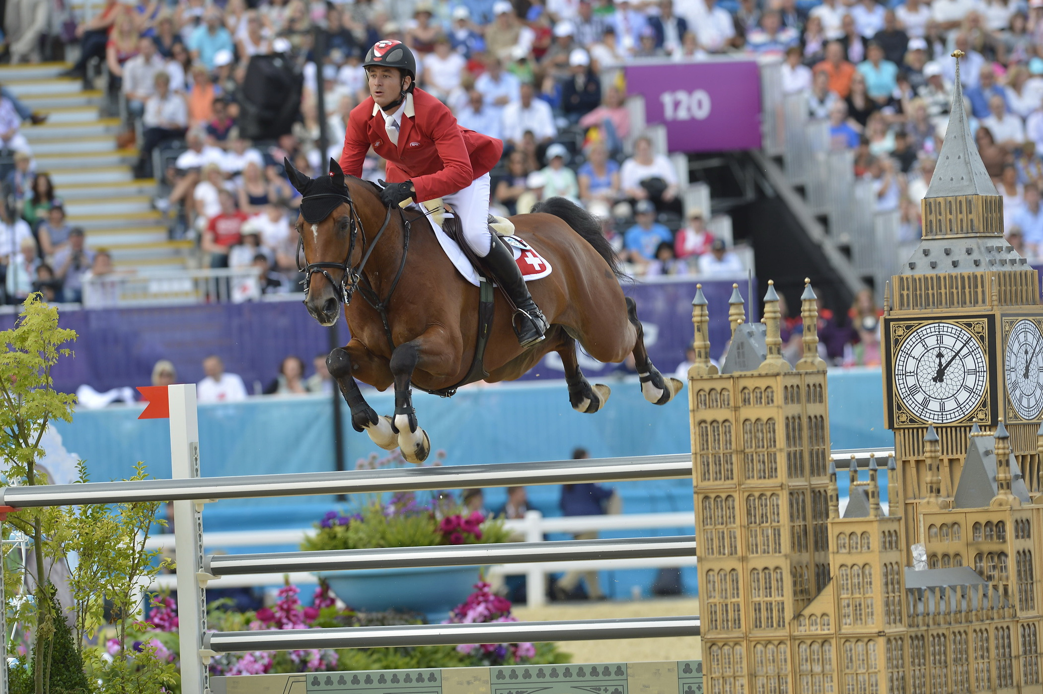 Switzerland's Steve Guerdat and Nino des Buissonnets will be going for a record-breaking back-to-back double of individual gold medals in Jumping at the Rio 2016 Olympic Games. © FEI/Kit Houghton