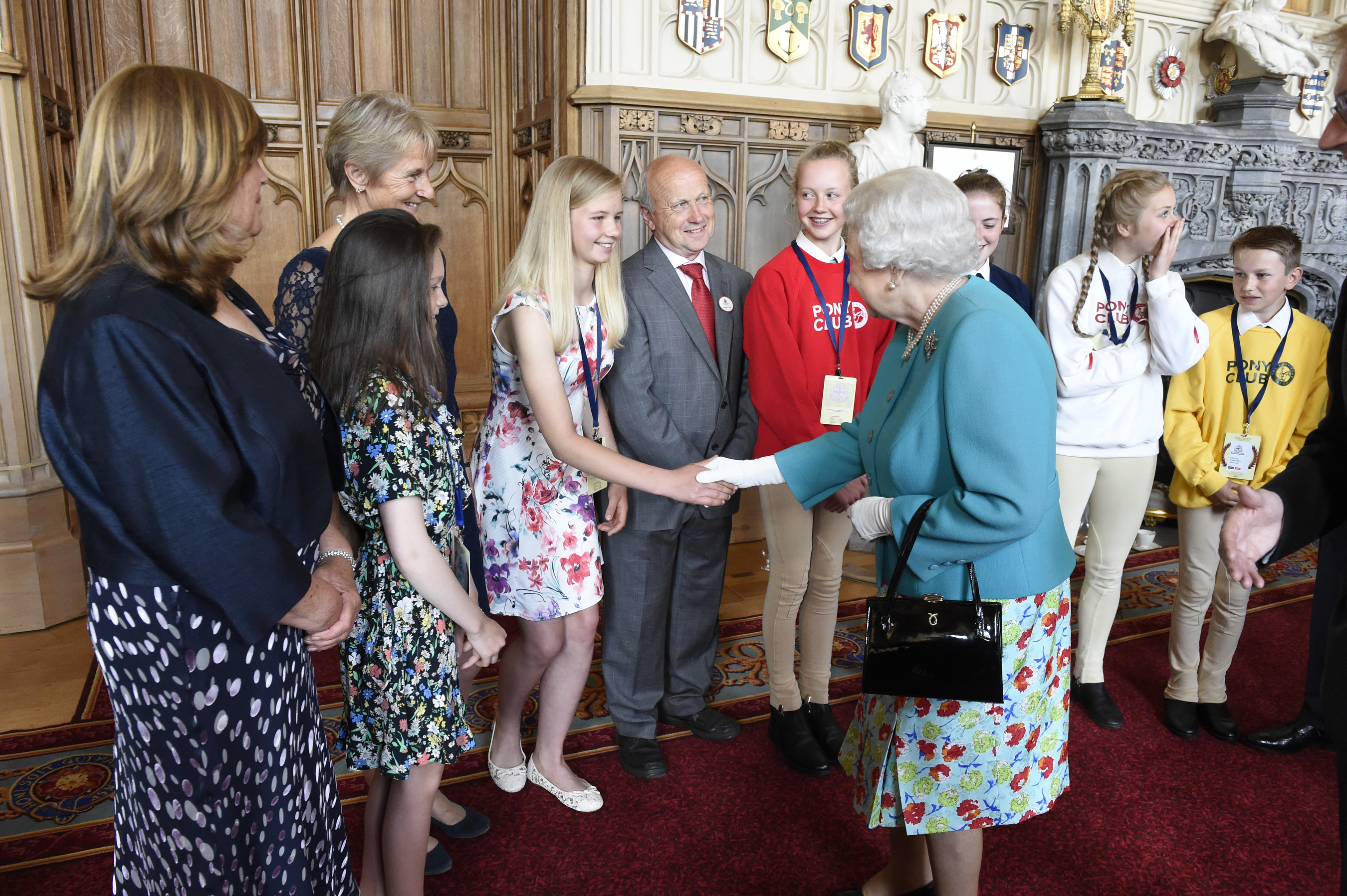Hannah Richardson meeting HM The Queen