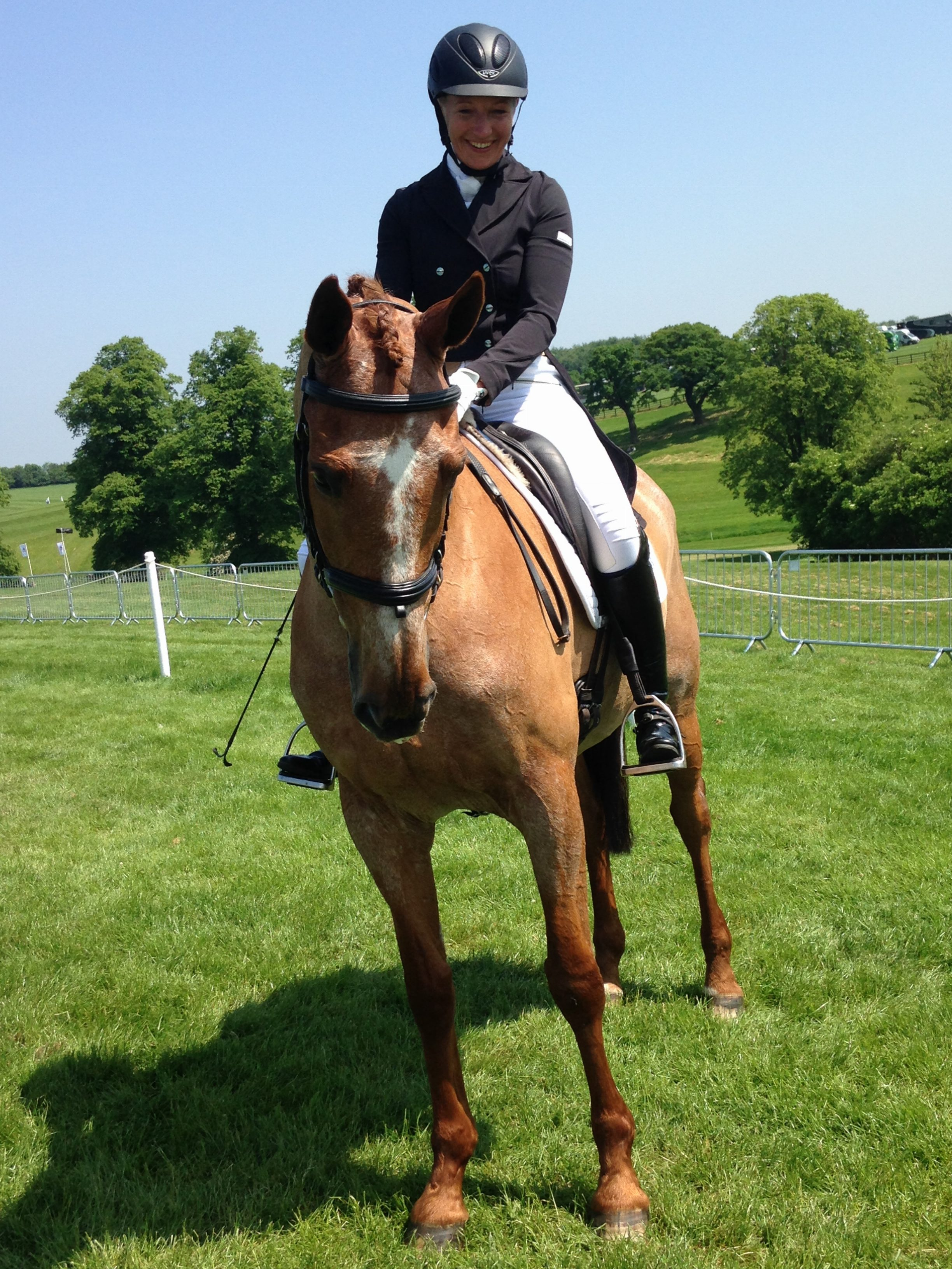 Pinks at Bramham - the most adorable horse ever!