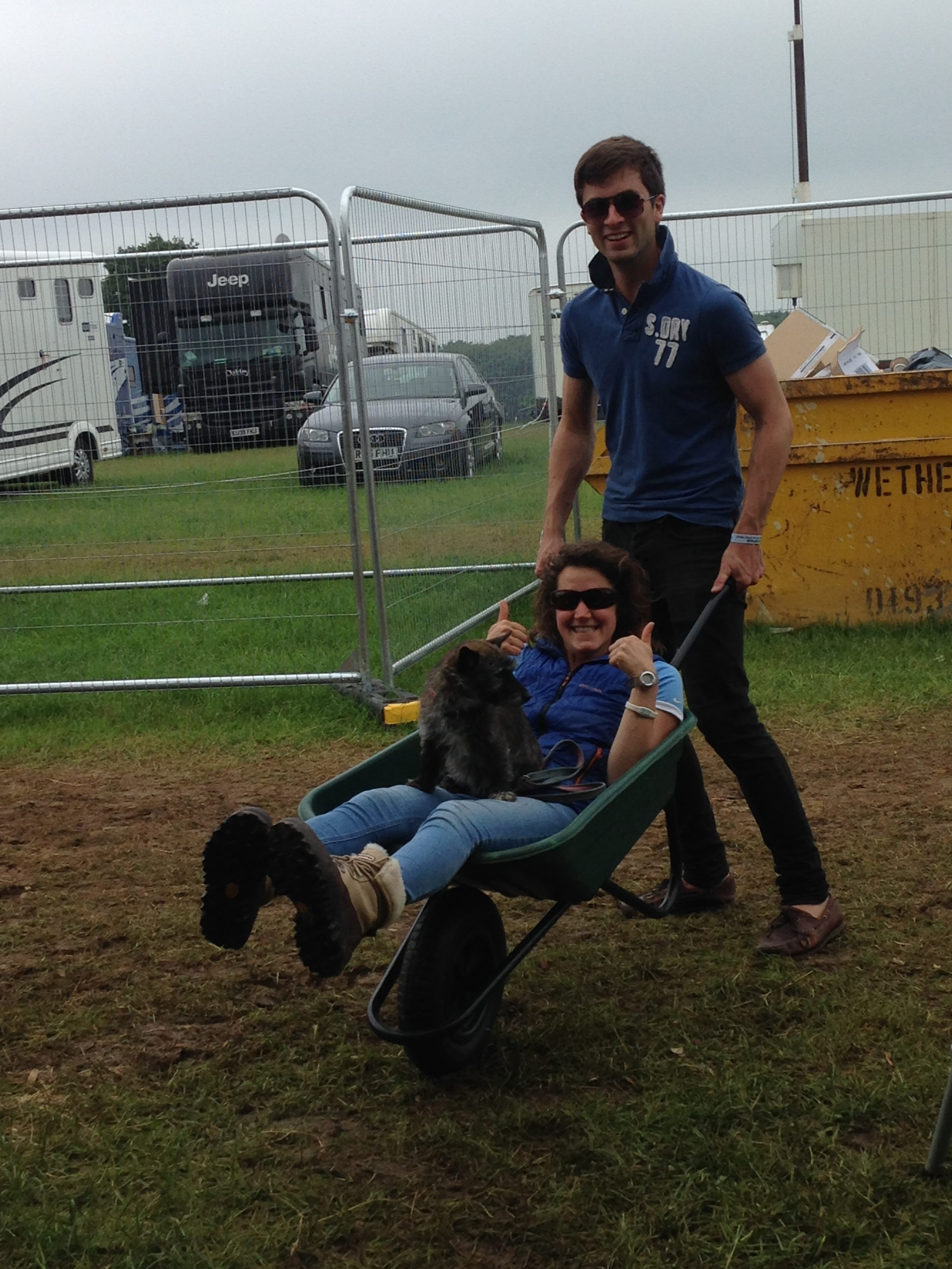Elliot, Debbie and Dara D 'working hard' at Bramham
