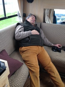 It all gets a bit too much for Dad at Aldon