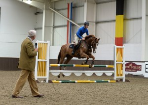 John Ledingham training Ben Way at Pony Club A Test Reunion at Addington Manor Equestrian Centre, Buckinghamshire, UK on the 23rd June 2015