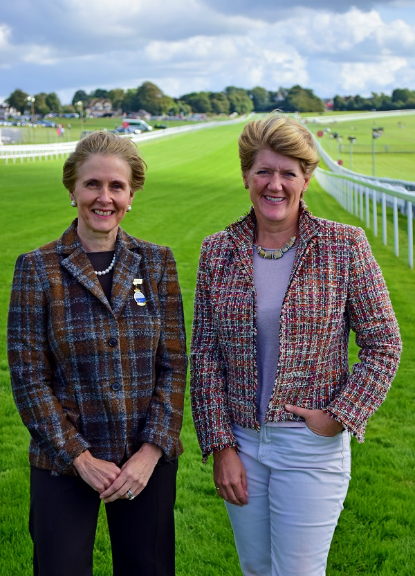 julia-budd-with-clare-balding-at-epsom-downs-racecourse-lowres