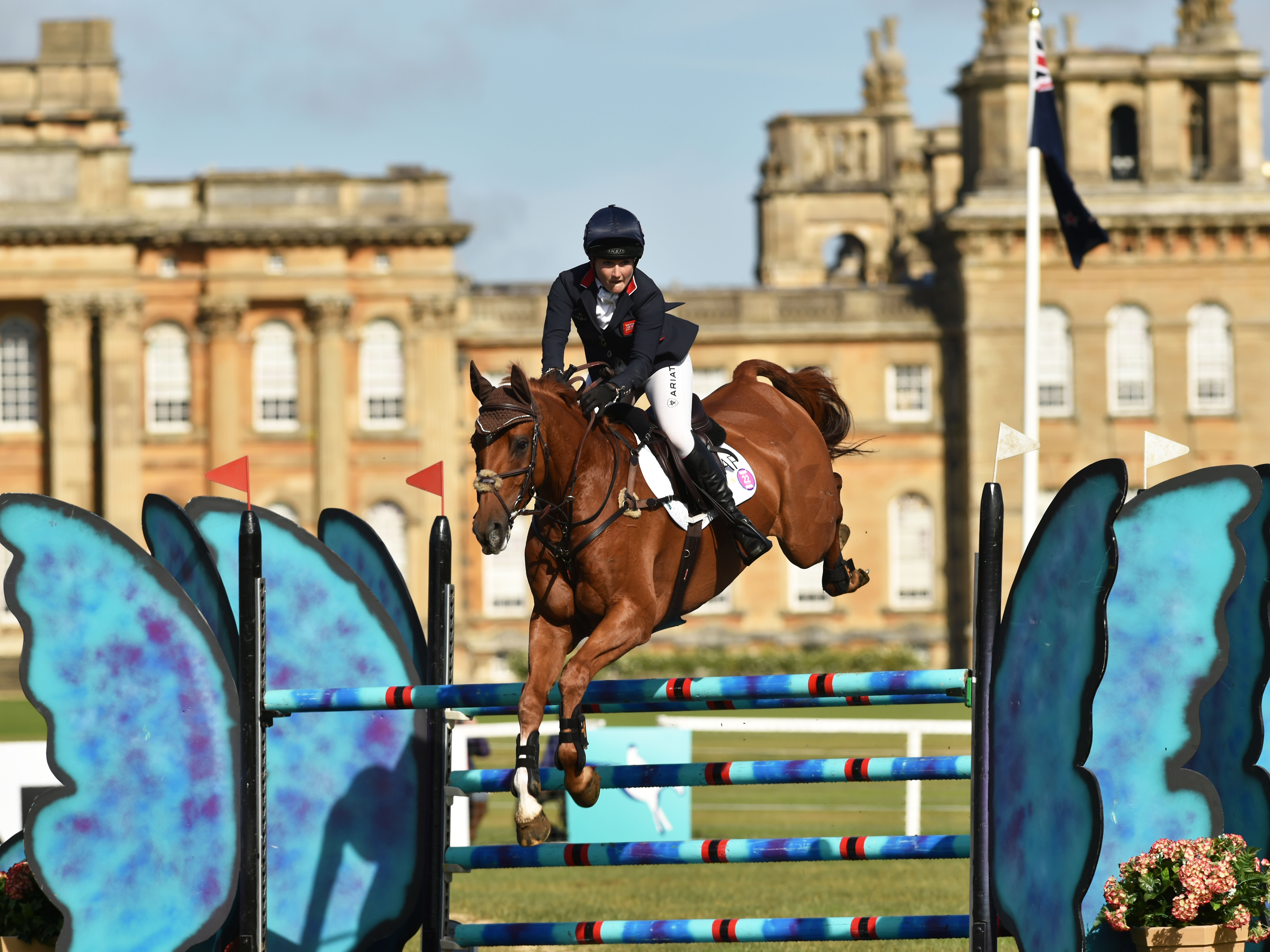 Laura Collett and Grand Manoeuvre competing at Blenheim Palace International Horse Trials in 2016 © Blenheim Palace International Horse Trials