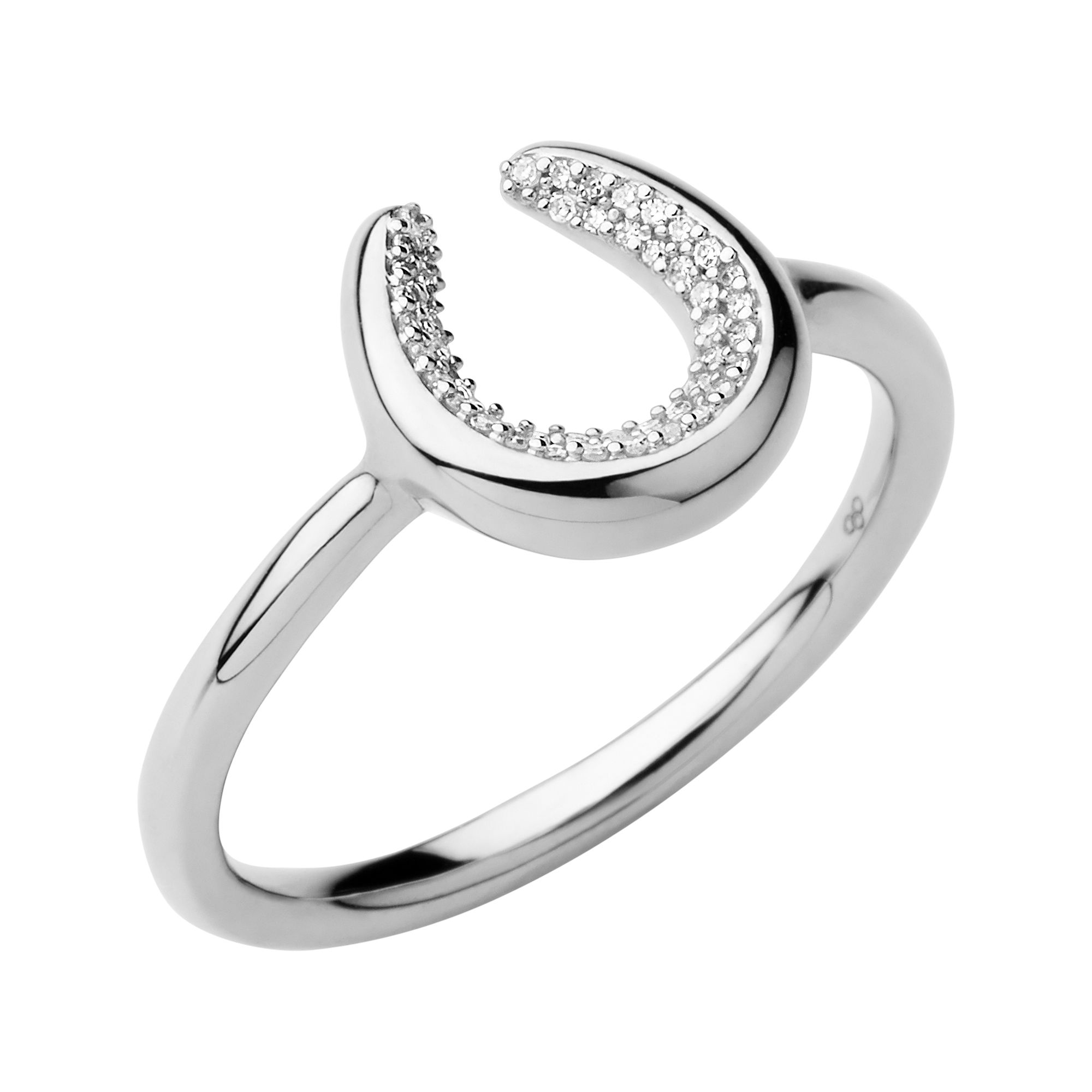 Ascot Diamond Essentials Sterling Silver Horseshoe Ring</a>