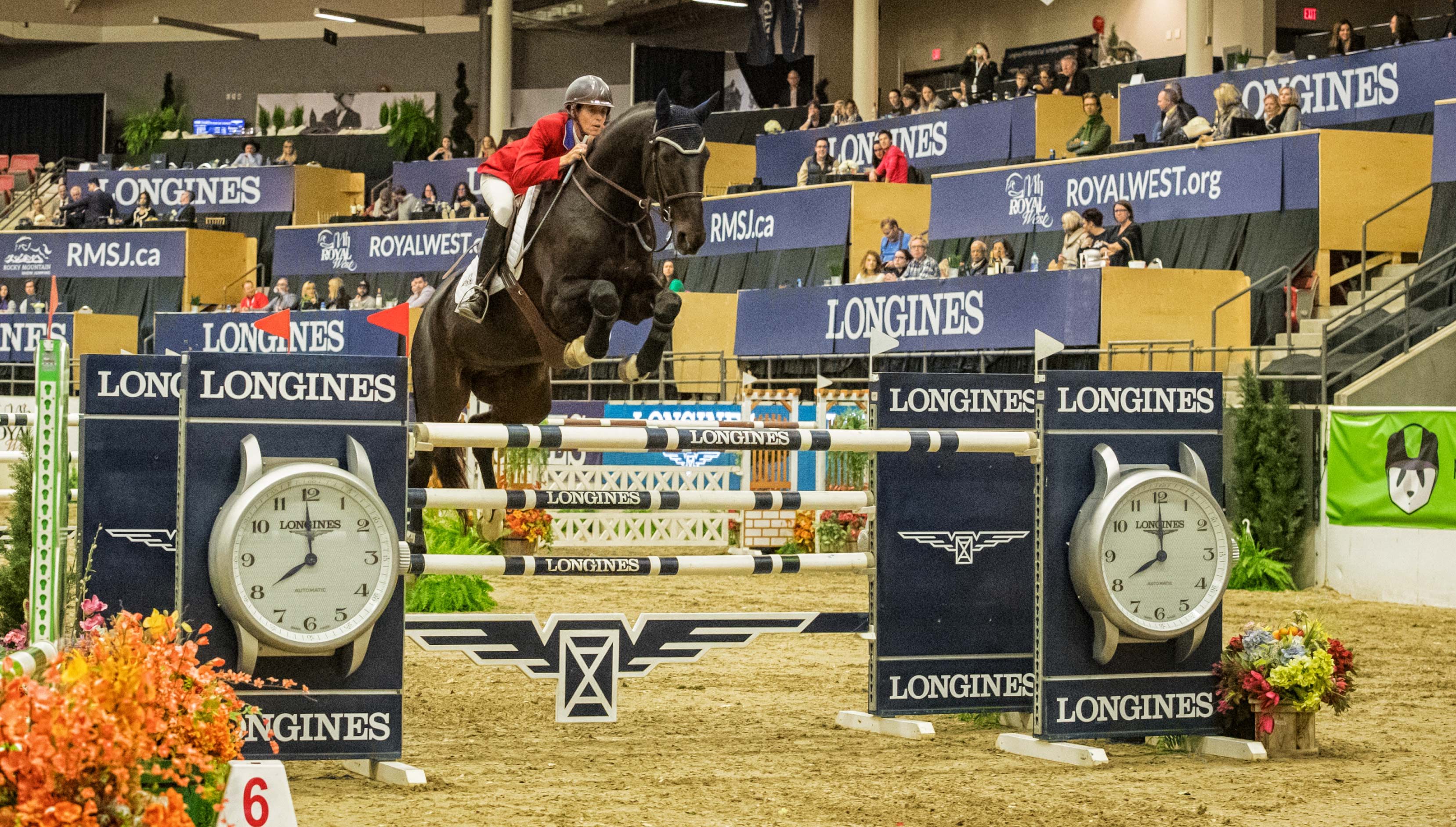 The United States' Jenni McAllister pilots Legis Touch The Sun to the top in the $132,000 Longines FEI World Cup™ Jumping Royal West. © FEI/Aimee Makris