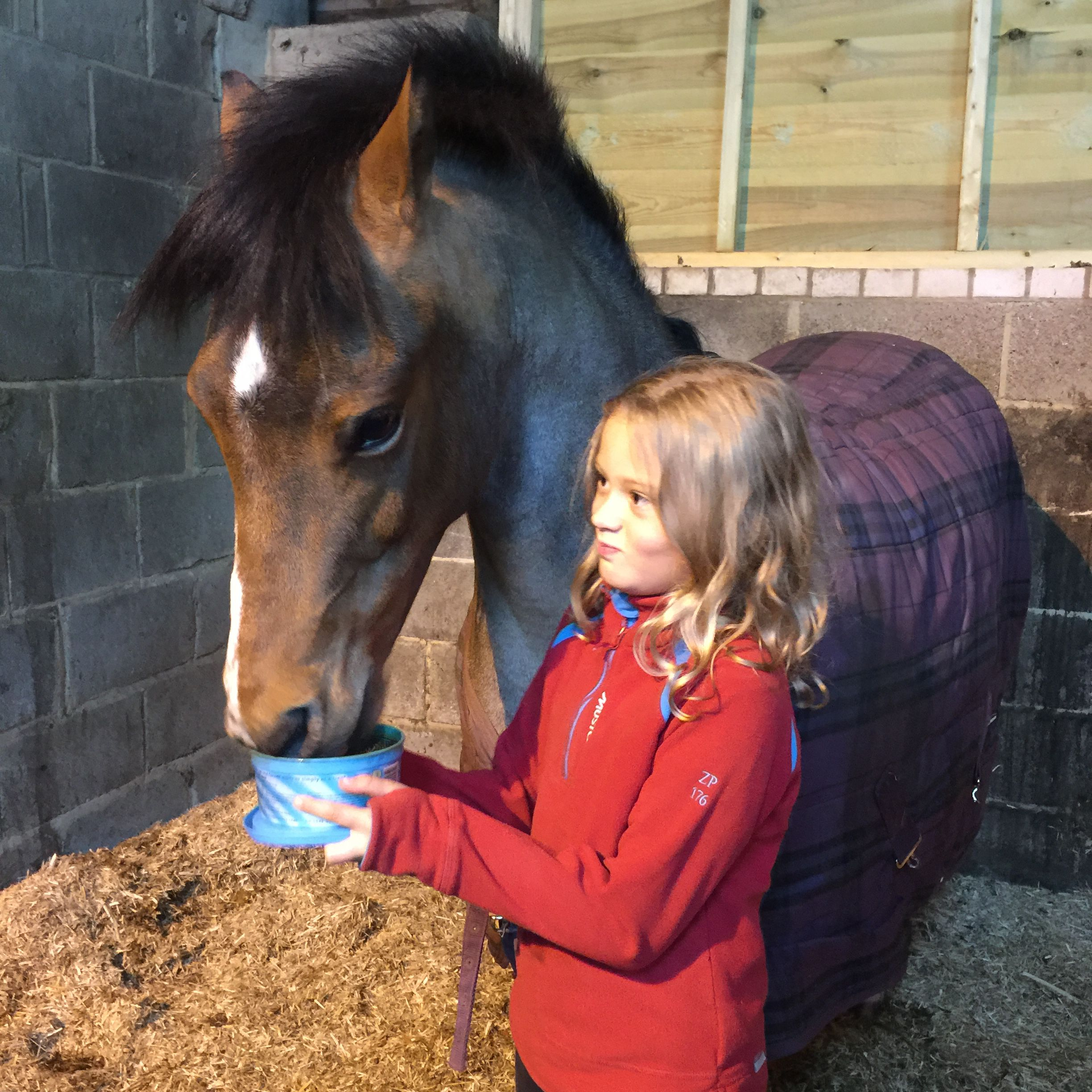 Lyla Mainwaring and her pony Ronnie. World Horse Welfare Competition