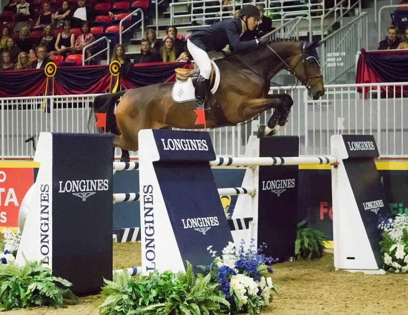 McLain Ward aboard HH Azur in the $130,270 Longines FEI World Cup™ Jumping Toronto. © FEI/Anthony Trollope