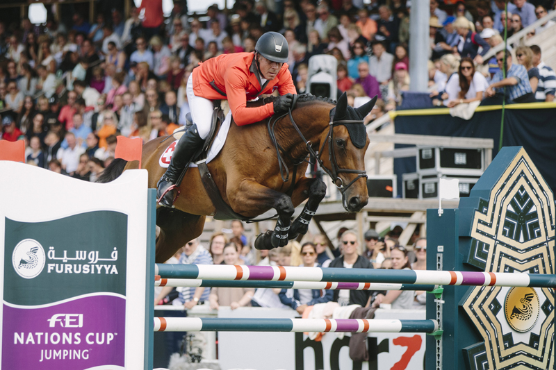 Paul Estermann and Castlefield Eclipse produced one of the three sensational double-clears that clinched victory for Switzerland at today's sixth leg of the Furusiyya FEI Nations Cup™ Jumping 2016 Europe Division 1 League in Falsterbo (SWE). © FEI/LOTTAPICTURES)