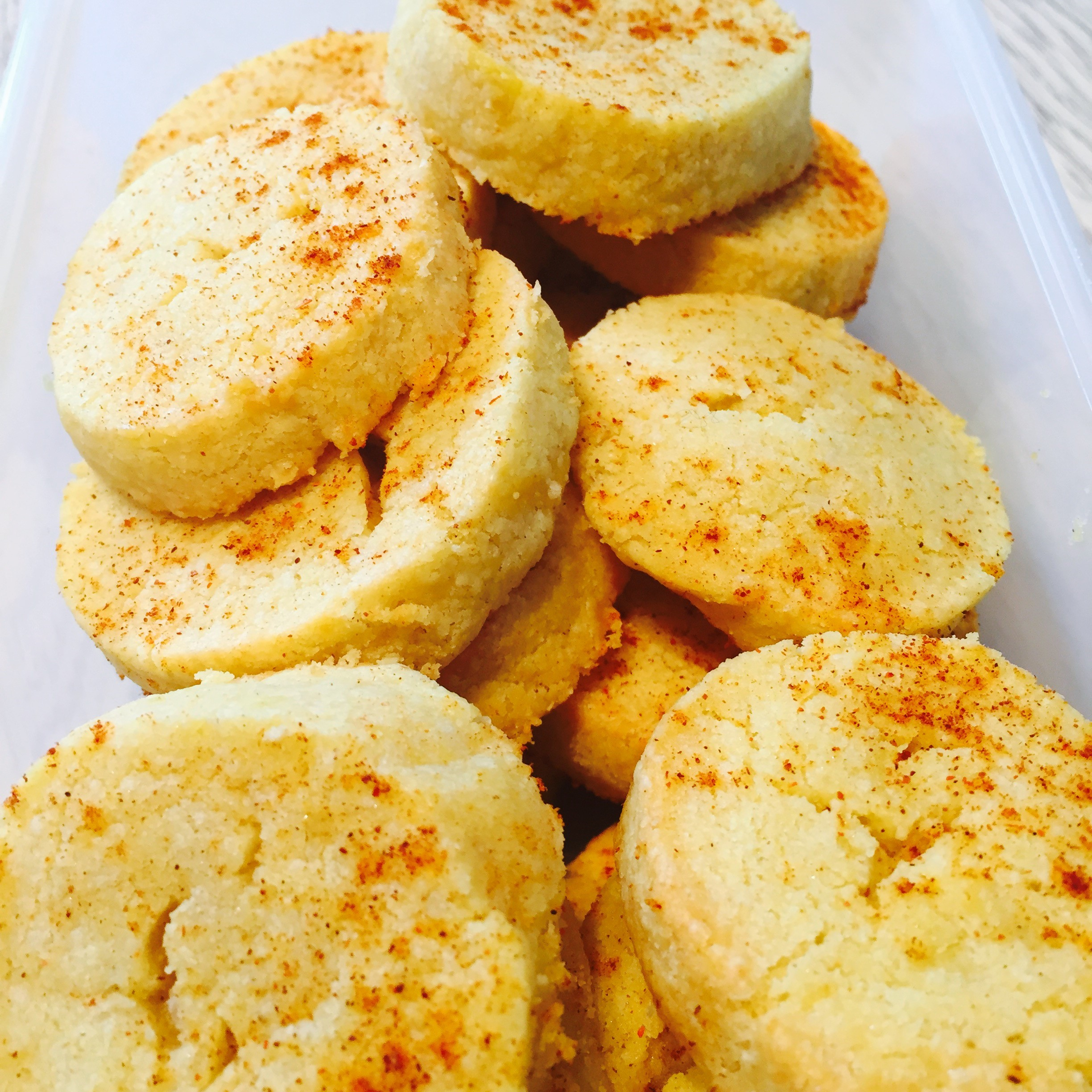 Paprika and Cheddar Shortbread