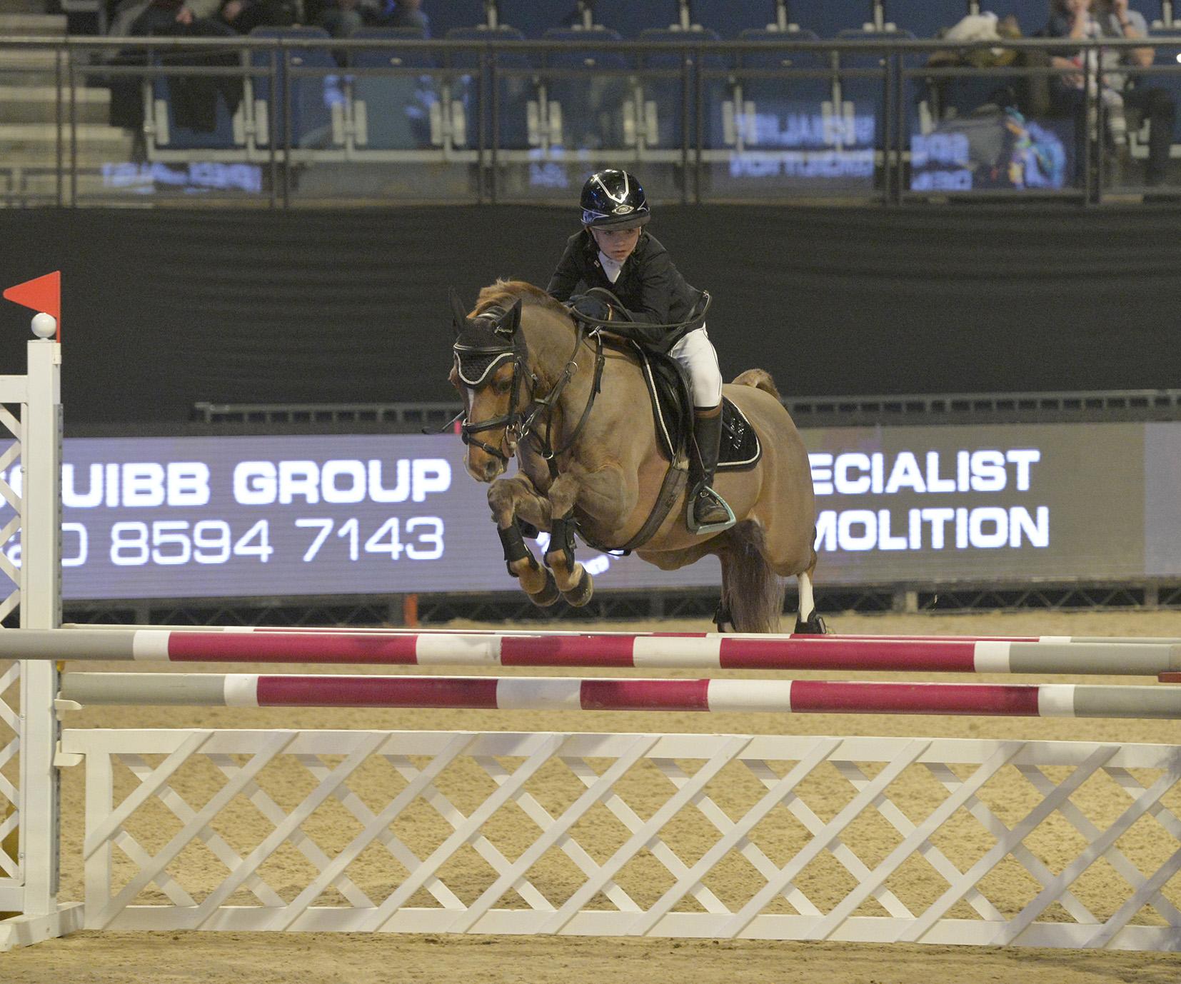 major pony showjumping at liverpool international horse show the gaitpost. Black Bedroom Furniture Sets. Home Design Ideas