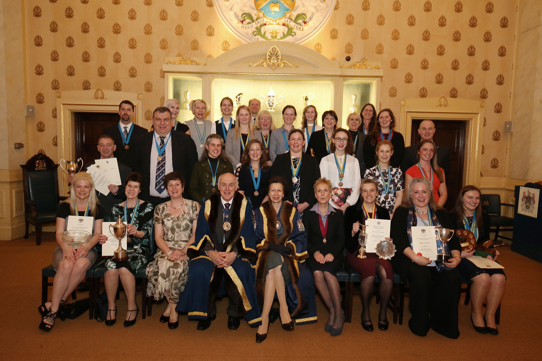 Prizewinners with HRH The Princess Royal