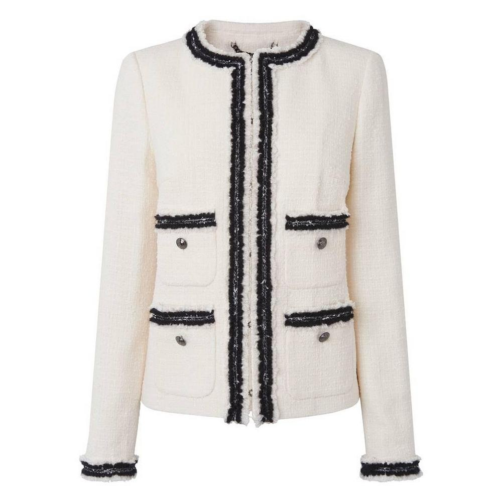 Charl Cream Cotton Mix Jacket</a>
