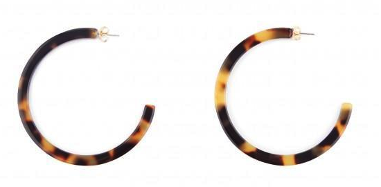 Tortoiseshell hoop earrings</a>