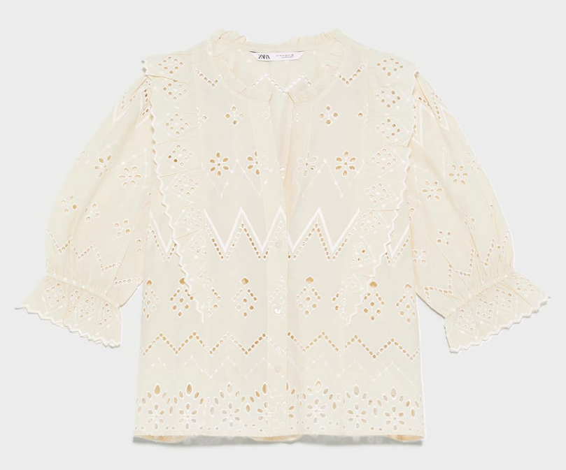 Cutwork embroidery top</a>