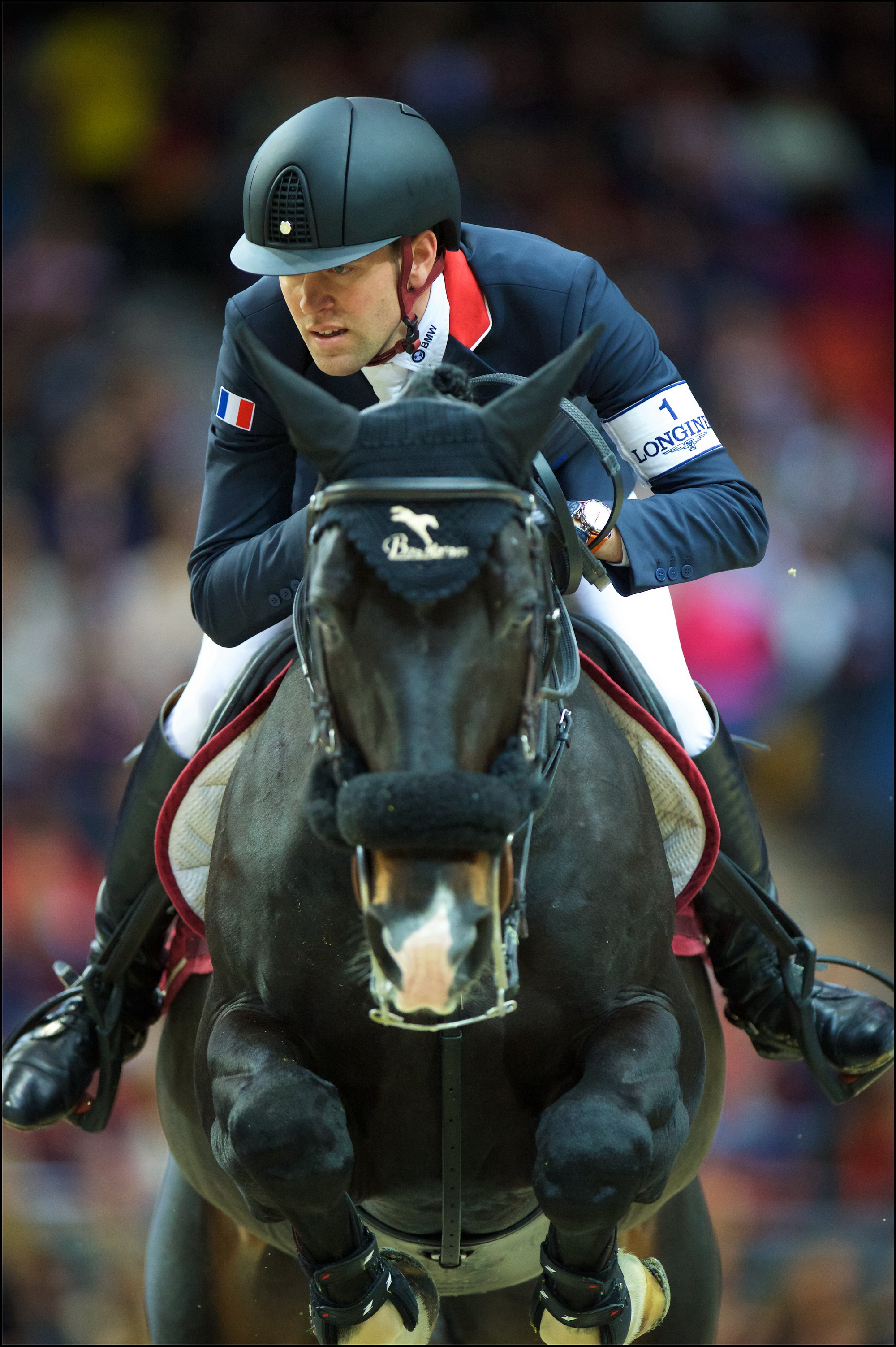 Olympic Jumping athlete Simon Delestre (FRA), Longines world number one, pictured in the first round of the Longines FEI World Cup™ Jumping Final 2016 in Gothenburg (SWE). © FEI/Arnd Bronkhorst