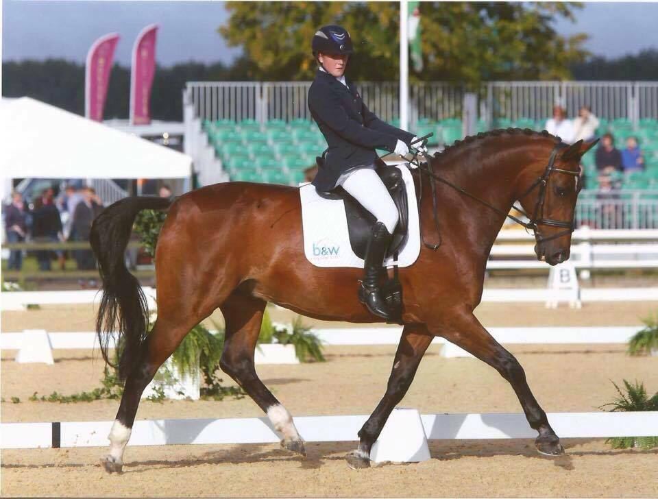 Suzi Hext riding Abira