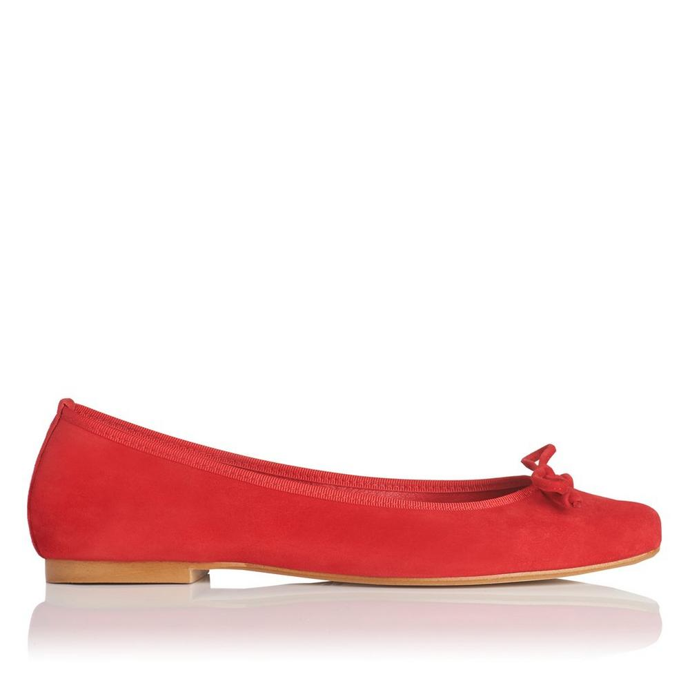 Chelsey Red Suede Flats</a>