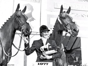 Badminton Horse Trials 1977 Winner  Miss L Prior-Palmer & George © Badminton Horse Trials