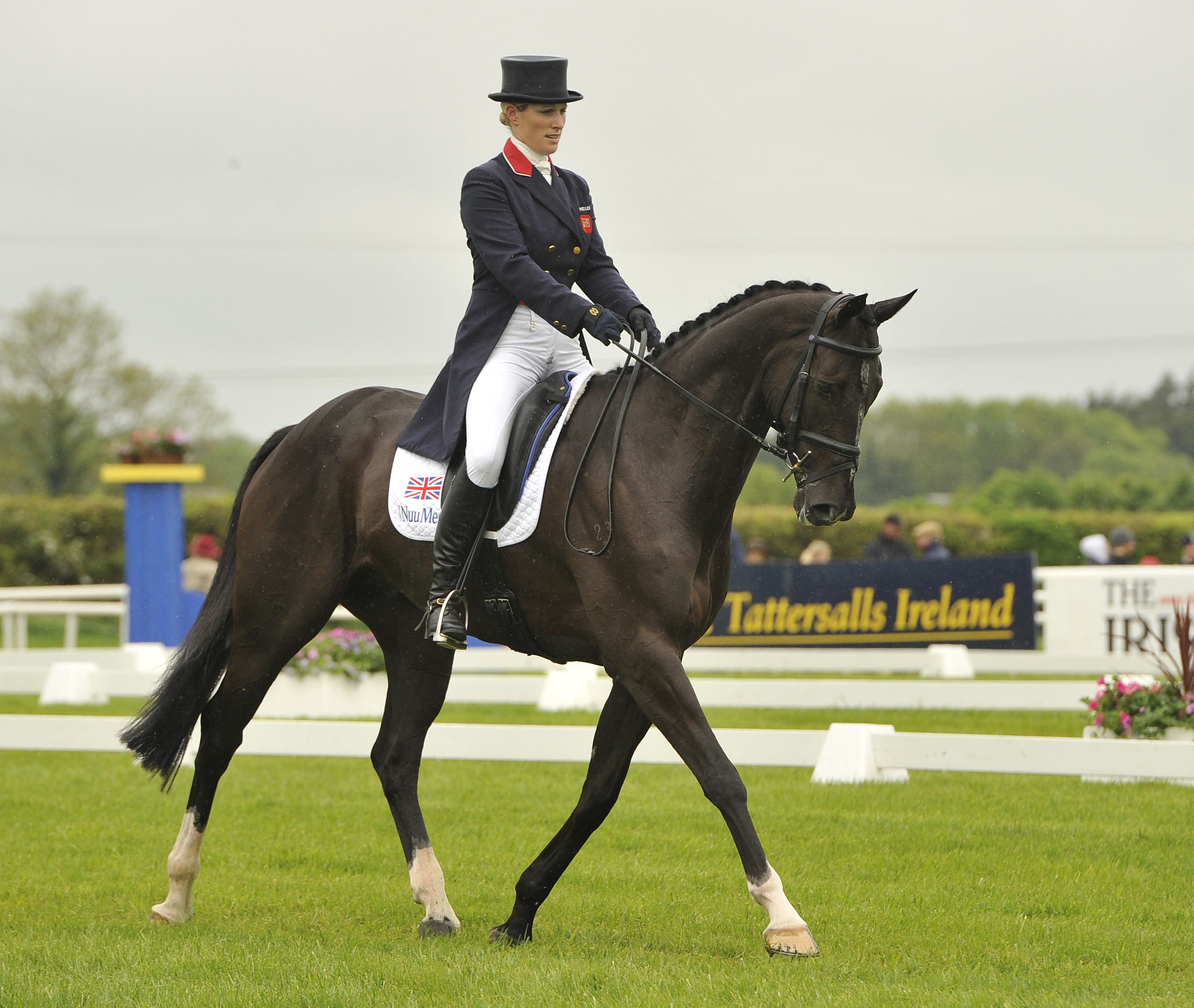 Zara Phillips and Black Tuxedo