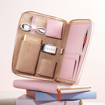 Personalised Luxury Leather Travel Tech Case</a>