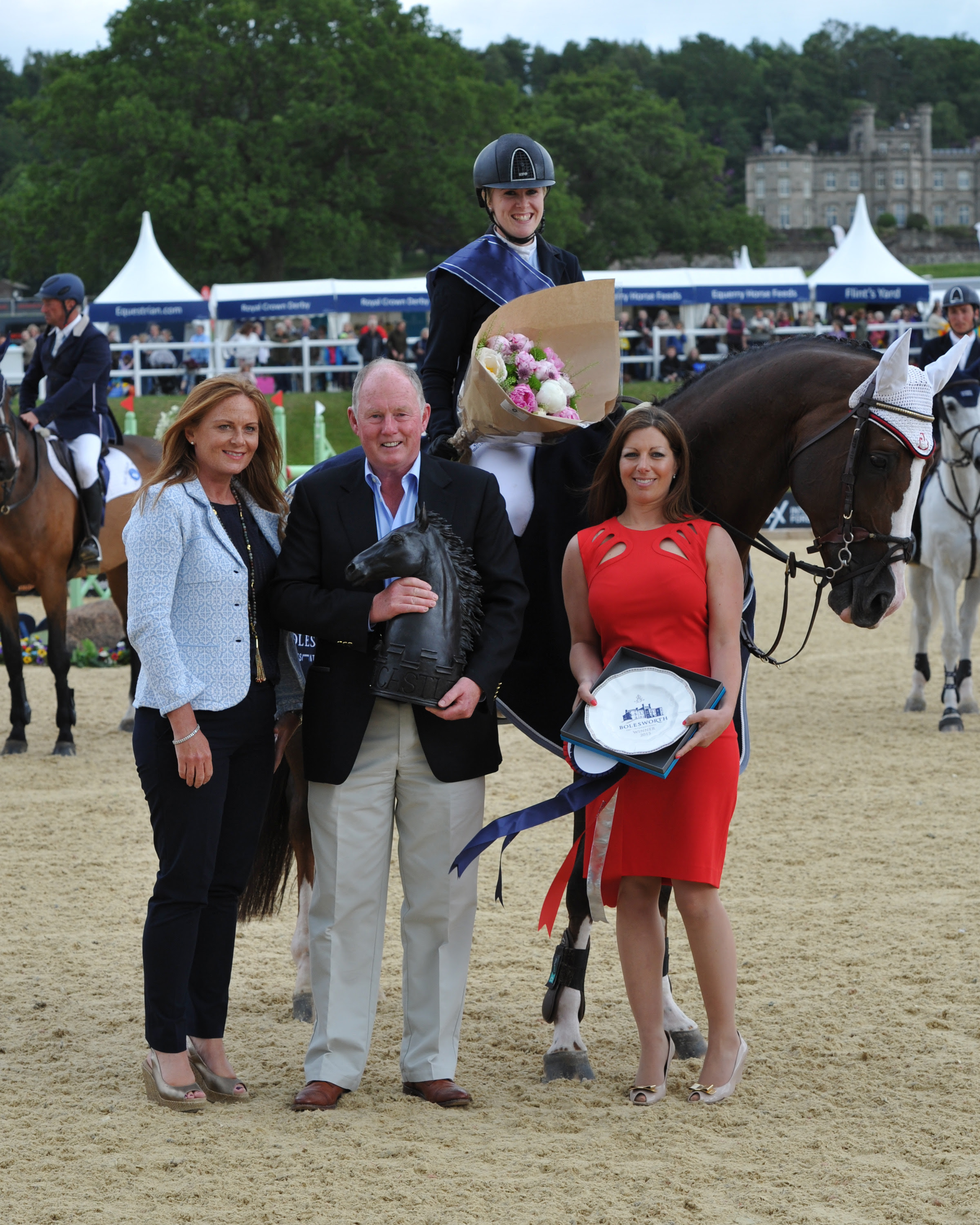 Bolesworth Int. S/Jumping 21.06.15G.P. winner Yazmin Pinchen on Van De Vivaldi