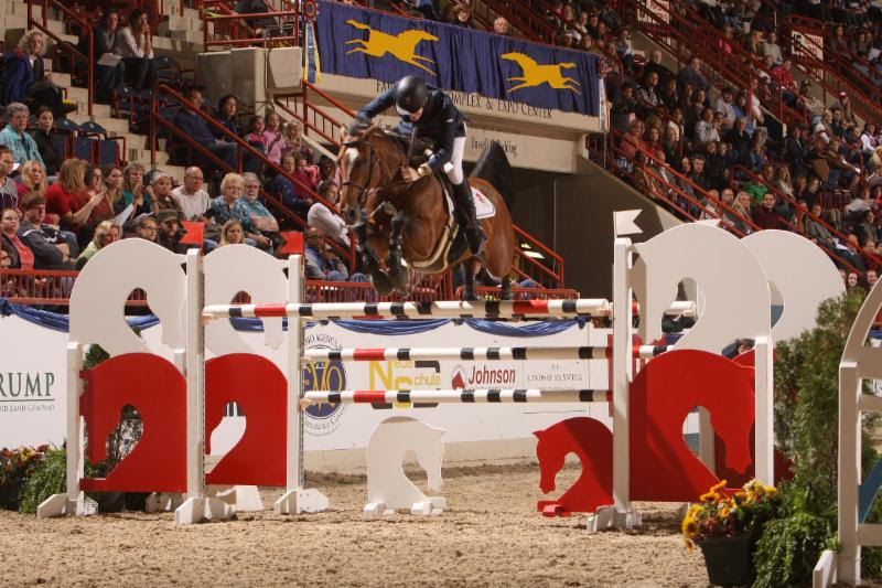 Ireland's Daniel Coyle and Fortis Fortuna win the $100,000 Prix De Penn © Al Cook