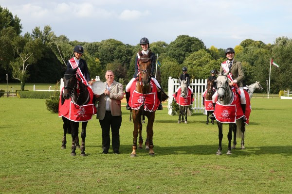 Millfield School wins the Hurstpierpoint College National Schools and Pony Club Jumping Championships Senior title.  © Julian Portch Photography.