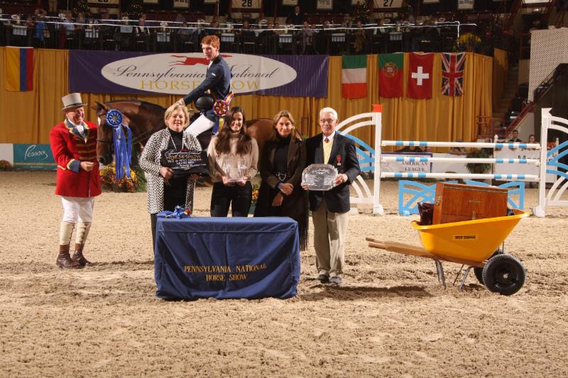 Presentation of awards to Daniel Coyle and Fortis Fortuna. © Al Cook