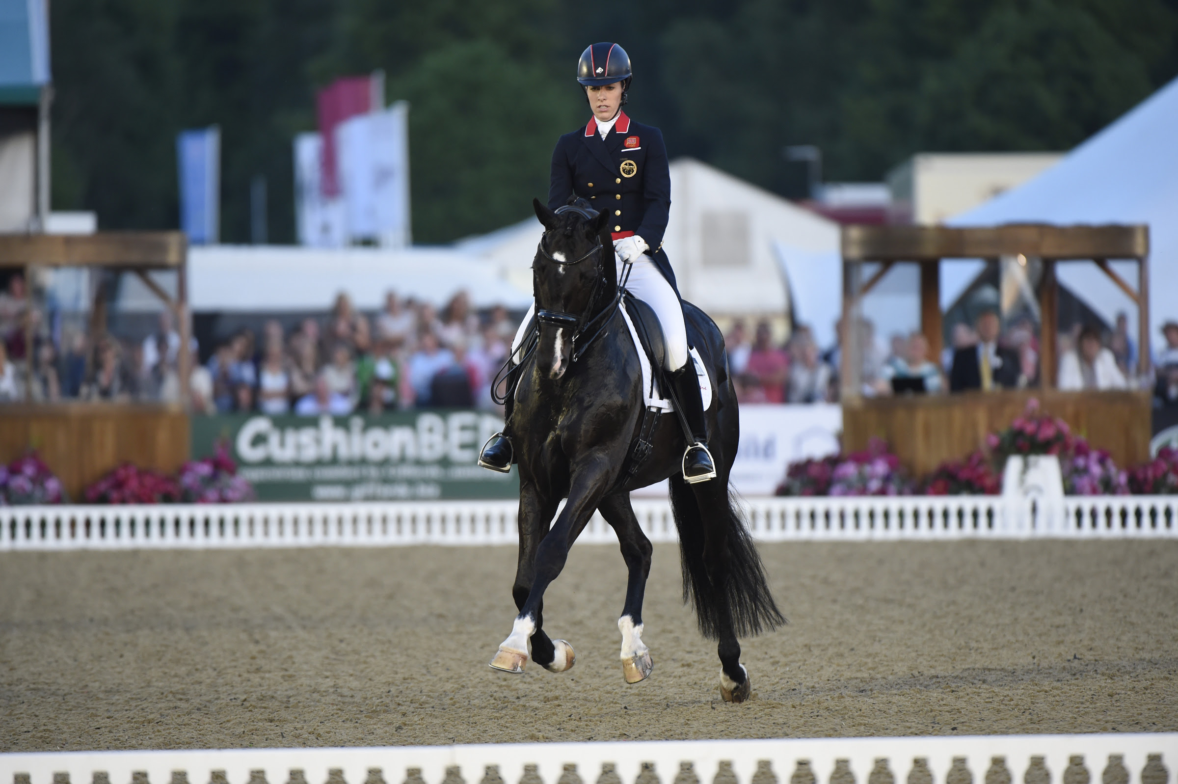 Charlotte Dujardin riding Uthopia in the dressage free style