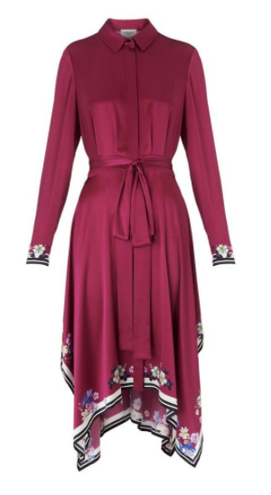 Devoto Dark Pink Silk Dress</a>