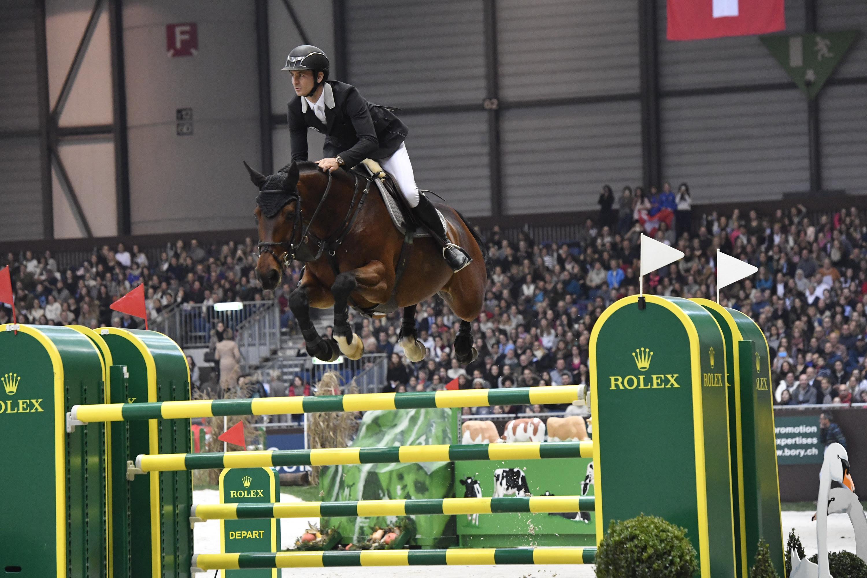 Steve Guerdat riding Corbinian