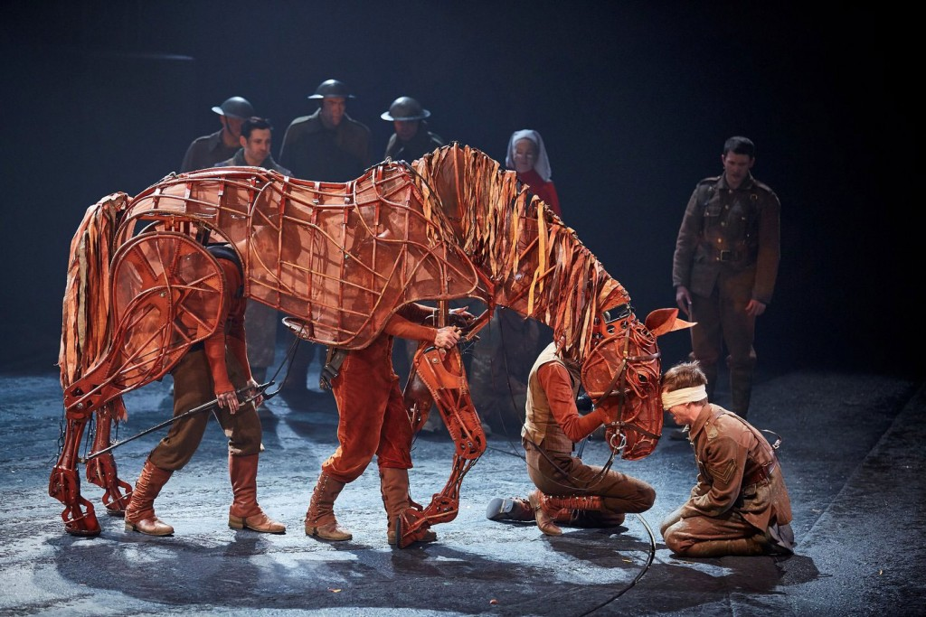 James Backway in War Horse at the New London theatre. Photo by Brinkhoff Mögenburg